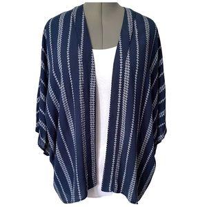 Navy stripe Kimono wrap by orb Life L
